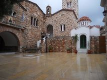 HOLY MONASTERY OF SAINT EPHRAIM – NEA MAKRI ATTICA royalty free stock photo