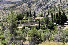 Nea Moni ny kloster i den Chios ön, Grekland Royaltyfri Foto