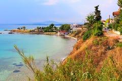 Nea Potidea of Nea Poteidea, Chalkidiki, Griekenland Stock Fotografie