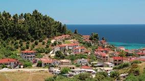 Nea Skioni village, Kassandra peninsula, Chalkidiki, Greece Royalty Free Stock Photography