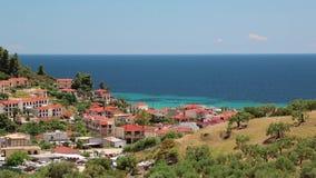 Nea Skioni village, Kassandra peninsula, Chalkidiki, Greece stock footage