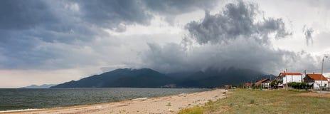 Nea Vrasna beach panorama Stock Images