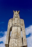 Neagoe Basarab sculpture against blue sky Royalty Free Stock Photo