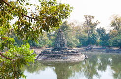 Neak Pean Prasat  temple in Angkor complex, Cambodia. Stock Photos