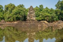 Neak Pean tempel Arkivbilder