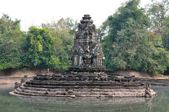 Neak Pean Temple at the Angkor Wat historical site area Royalty Free Stock Images