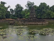 Neak Pean Temple at Angkor Wat stock image