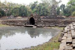 Neak Pean temple ruins Stock Photos