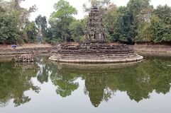Neak Pean temple ruins Stock Photography