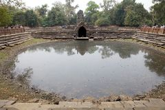Neak Pean temple ruins Stock Photos