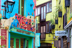 Neal's Yard, a small alley in London's Covent Garden Royalty Free Stock Images