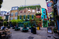Neal`s yard colorful corner. Hidden in covent garden royalty free stock images