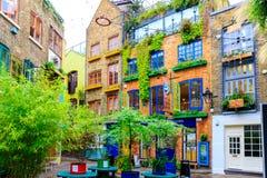 Neal' s-Yard, eine kleine Gasse in London' Garten s Covent Lizenzfreie Stockfotografie
