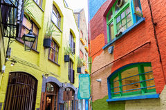 Neal's Yard, a small alley in London's Covent Garden Stock Photography