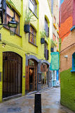 Neal's Yard, a small alley in London's Covent Garden Stock Images