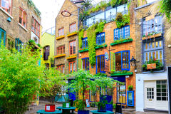 Neal's Yard, a small alley in London's Covent Garden Royalty Free Stock Photography