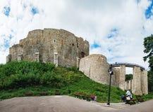 Neamt城堡是中世纪堡垒在罗马尼亚 免版税库存图片