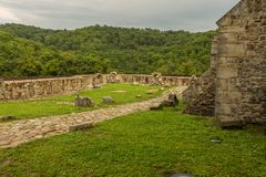 Neamt堡垒内墙  库存图片