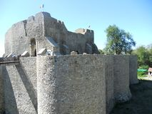 The medieval fortress of Neamt. Romania royalty free stock photos
