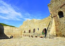 Neamt fortress - Romania. Image of the facade of Neamt fortress with arcade and rooms Stock Image