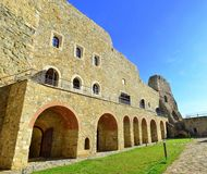 Neamt fortress - Romania. Image of the facade of Neamt fortress with arcade and rooms Royalty Free Stock Images