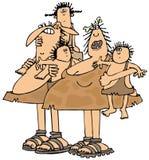 Neandertalska rodzina royalty ilustracja