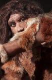 Neandertalski wyrażenie Obraz Royalty Free