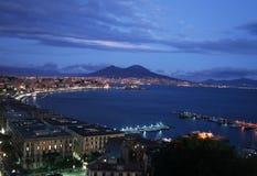 Neapel bis zum Nacht Stockfotografie