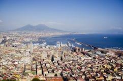 Neapel ein Vesuv Stockfoto