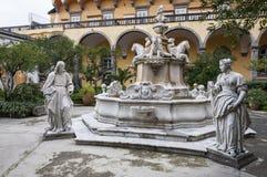 Neapel, Italien auf 10/16/2016 das Kloster von San Gregorio Armeno, Neapel Lizenzfreie Stockfotografie