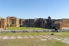 NEAPEL, ITALIEN - 19. JANUAR 2010: Ruinen in Pompeji Lizenzfreie Stockfotos