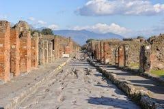 NEAPEL, ITALIEN - 19. JANUAR 2010: Straße von Pompeji Stockfoto