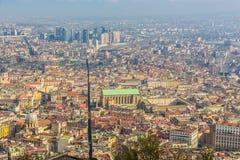 Neapel-Luftpanoramablick der Mitte lizenzfreie stockbilder
