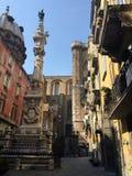 Neapel-Straßenansicht lizenzfreie stockfotos