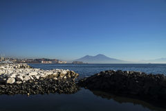 Neapel und Mt vesuvius Lizenzfreie Stockfotos