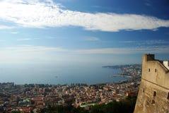 Neapel und sein Schloss Stockbild