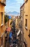 Neapel- und Vesuv-Panoramablick, Napoli, Italien lizenzfreie stockbilder