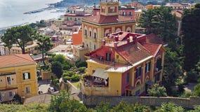 Neapel von oben Stockbilder