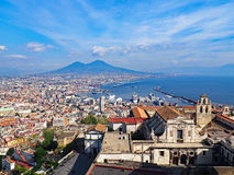 Neapel von oben Lizenzfreies Stockfoto