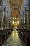Neapels Kathedrale; das Kirchenschiff Lizenzfreie Stockfotos