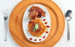 neaplolitan ragu kumberlandu spaghetti Obraz Royalty Free