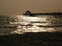 neapol mola zachodzącego słońca Obrazy Stock