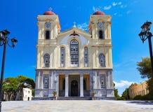 Neapoli church. Orthodox church at Neapoli in Crete, Greece stock images