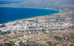 Neapoli Vion City, Greece. View from mountains stock images
