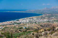 Neapoli Vion City, Greece. View from mountains stock image