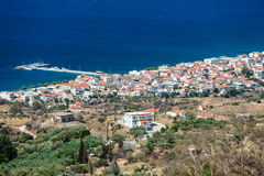 Neapoli Vion City, Greece. View from mountains royalty free stock photos
