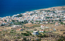Neapoli Vion City, Greece. View from mountains royalty free stock image