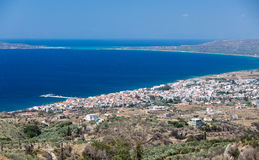 Neapoli Vion City, Greece. View from mountains royalty free stock photo