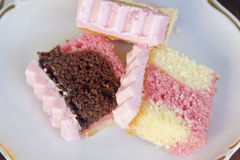 Neapolitan Cake Slices Stock Photo
