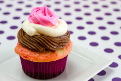 Neapolitan Cupcakes Stock Photo